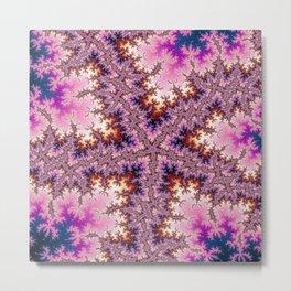 Fractal Starfish Metal Print