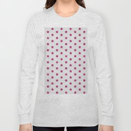 Abstract neon pink white faux glitter stars pattern Long Sleeve T-shirt
