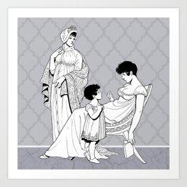 Woman and Child Art Print
