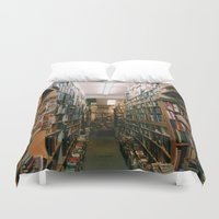 books Duvet Covers featuring Books by Brianne Daigle