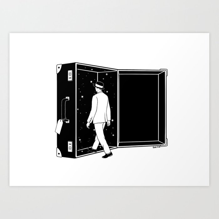 Space Traveler Art Print