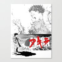akira Canvas Prints featuring Akira by SKTCHY!