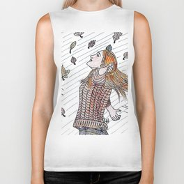 Autumn lover Biker Tank