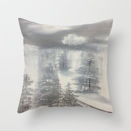 White out Winter Throw Pillow
