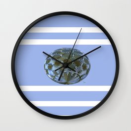 A Blue and Brown Orb Wall Clock