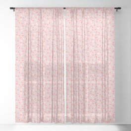 Pink Sprinkle Confetti Pattern Sheer Curtain