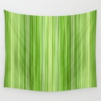 lime green Wall Tapestries featuring Ambient 3 in Lime Green by Bruce Stanfield