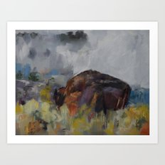 Buffalo at Yellowstone Art Print