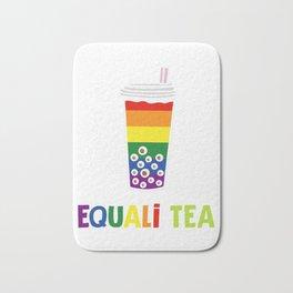 Equali-Tea Boba Bubble Tea LGBT Rainbow Pride Bath Mat
