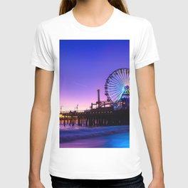Santa Monica purple sunset T-shirt