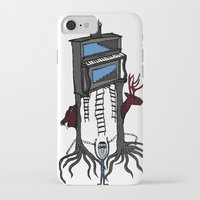 piano iPhone & iPod Cases featuring piano by JBLITTLEMONSTERS