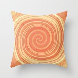 It's an orange whirl Throw Pillow