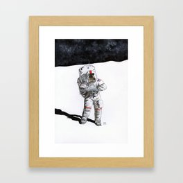 Moonman Framed Art Print
