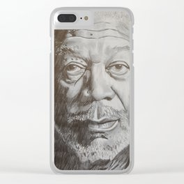 Morgan Freeman Clear iPhone Case