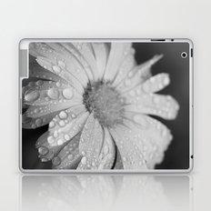 black and white flower II Laptop & iPad Skin