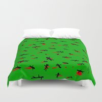 dead Duvet Covers featuring Dead by Rob White