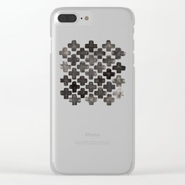 Black & White Crosses - Katrina Niswander Clear iPhone Case