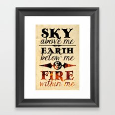 Sky Earth Fire Framed Art Print