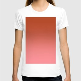 Red to Pastel Red Horizontal Linear Gradient T-shirt