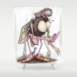 The Shoe Fly (A Flew) Shower Curtain