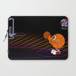 Basketball Cartoon Character Free Throw Laptop Sleeve