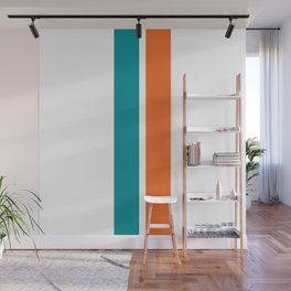 Aqua Orange Miami Color Wall Mural
