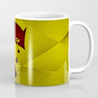 hero Mugs featuring Hero by PingPongPrints