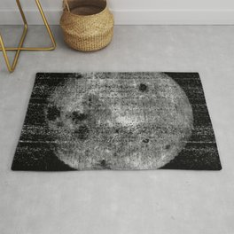 1st Image of the Far Side of the Moon Rug