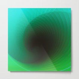 Blue surf geometric blue minimal Metal Print
