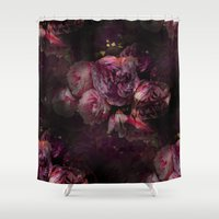 peony Shower Curtains featuring peony by MINTSENSEART