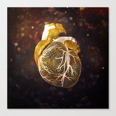 The Heart Of My Heart // So Far From Home Gold Edit Canvas Print