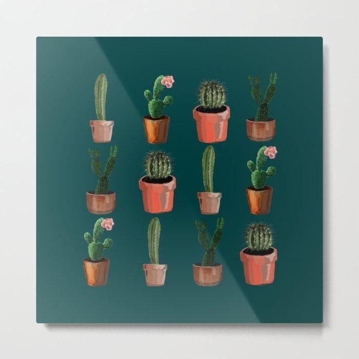 Various Cacti Green Metal Print