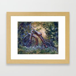 Rustic Tricycle Framed Art Print