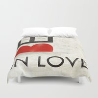 onesie Duvet Covers featuring BE IN LOVE by Lulla