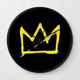 Basquiat crown Wall Clock