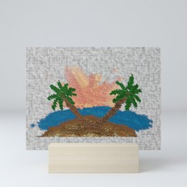 Sunless Seclusion with Tropical Trees Mini Art Print