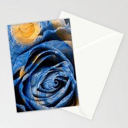 Starry Night Rose Stationery Cards