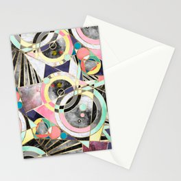 Modern geometric abstract pattern Stationery Cards