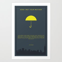 How I Met Your Mother - Yellow Umbrella Art Print