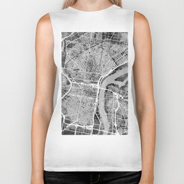 Philadelphia Pennsylvania Street Map Biker Tank