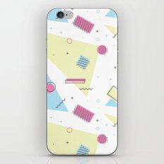 Retro Memphis Pattern Design iPhone Skin