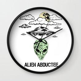 Alien Abductee Funny UFO Extraterrestrial Nerd Believer Wall Clock