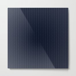 Сonor McGregor - Fuck You - Navy Pin Stripe Design Metal Print