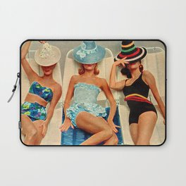 Retro Sunbathers Laptop Sleeve