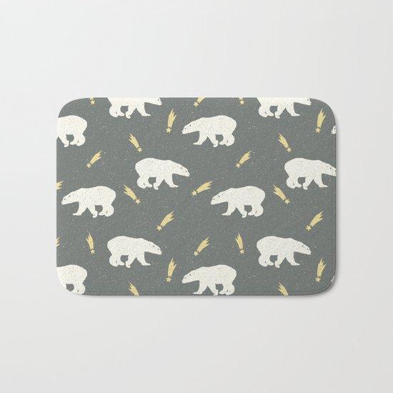 Merry Christmas- Animal Polar bear - pattern Bath Mat