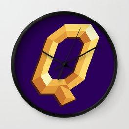 The Queen Logo Wall Clock