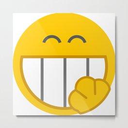 yellow smile Metal Print