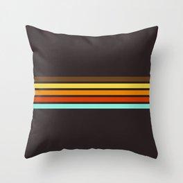 5 Thin Colorful Stripes 19 Throw Pillow