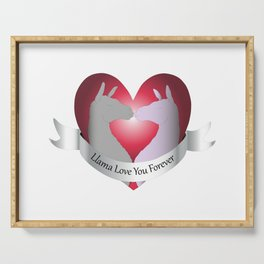 Llama Love You Forever in Color Serving Tray