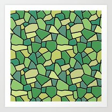 Stained Glass Green Art Print